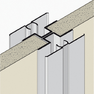 OMEGA-steel profile with PVC cover section