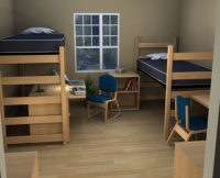 Residential Room 3 - Residence Hall Furniture